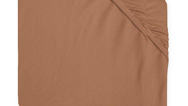 Drap-housse jersey 60x120cm caramel (2pack)
