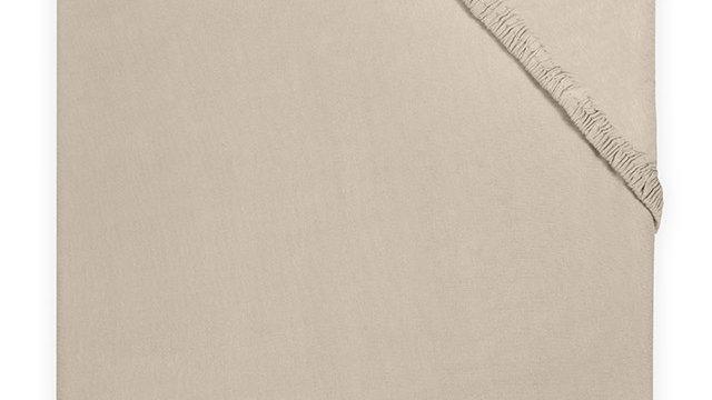 Drap-housse jersey 60x120cm nougat
