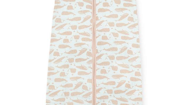 Sac de couchage été 70cm -Whales rose-