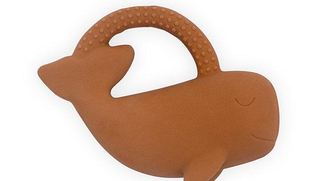 Anneau de dentition caoutchouc- Whale caramel-
