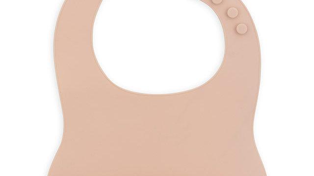 Bavoir siliconen - rose pale-