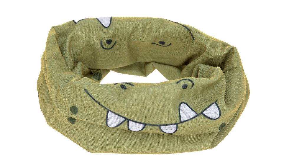 Écharpe enfants - masque réutilisable, Crocodile olive