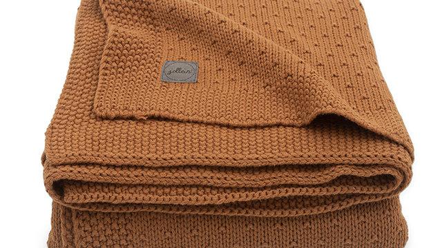 Couverture -75x100cm Bliss knit caramel-