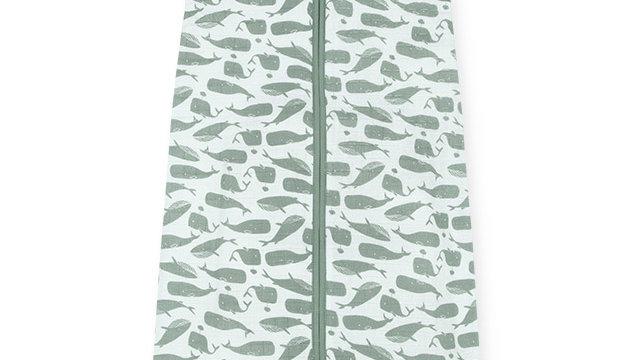 Sac de couchage été 70cm -Whales vert-