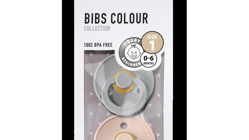 Pack 2 tétines caoutchouc naturel Bibs  Cloud / Blush T1