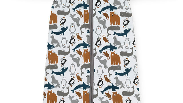 Baby Sac de couchage- 110cm Polar- avec manches à fermeture à glissière