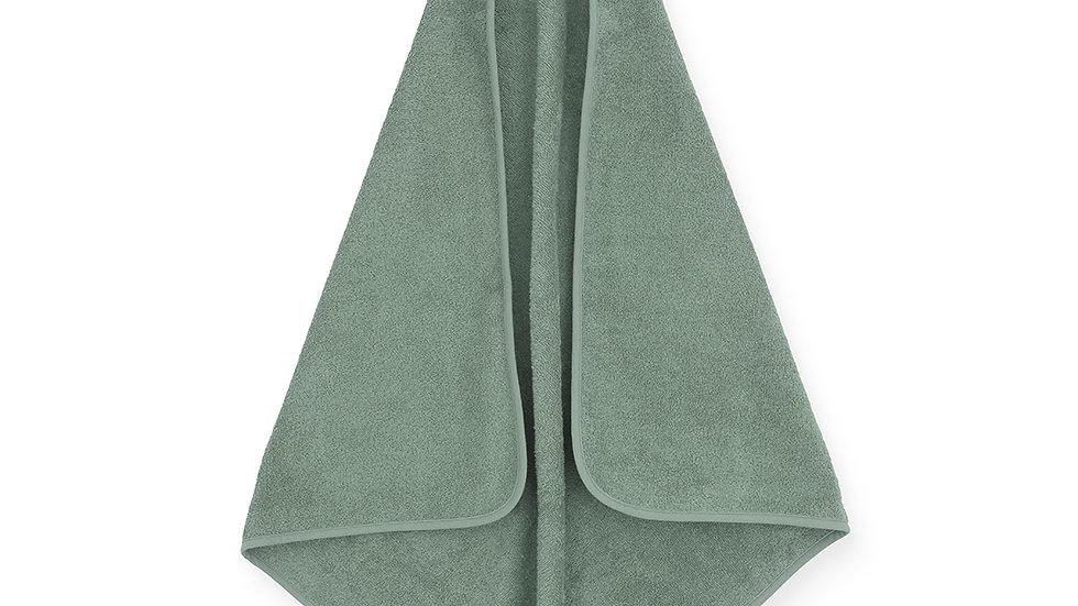 Cape de bain éponge- 75x75cm vert-