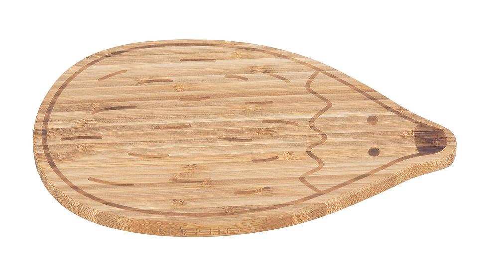 Planche pour petit-déjeuner en bois de bambou, Garden Explorer Hérisson