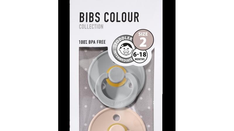 Pack 2 tétines caoutchouc naturel Bibs  Cloud / Blush T2