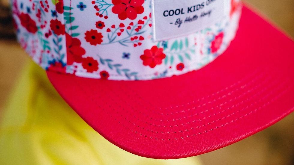 casquette avec imprimé 3-6 ans (52cm) -fleurs rose - taille