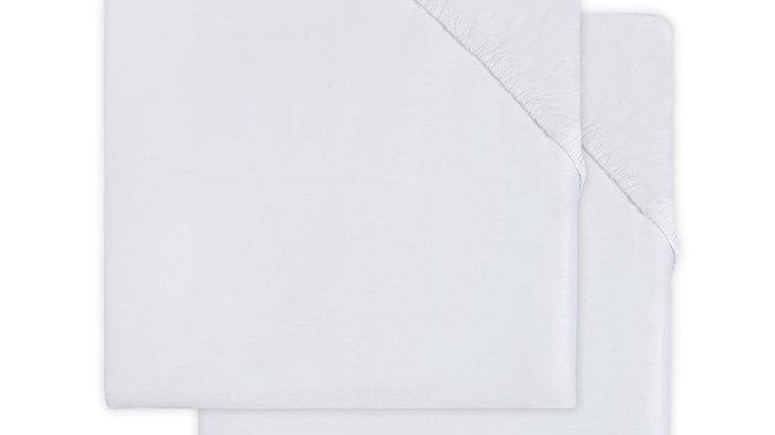 Drap-housse jersey 60x120cm white (2pack)