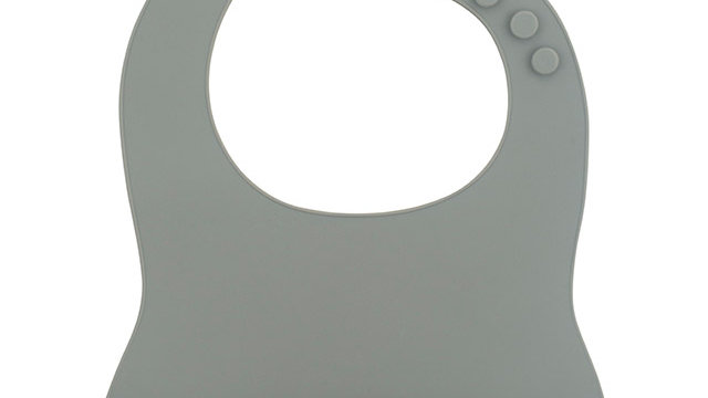 Bavoir siliconen -Storm gris-
