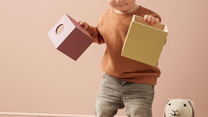 Cubes Edvin en bois 5 pièces