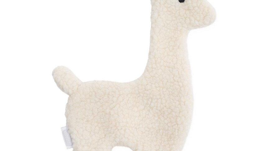 Attache tétine -Lama blanc-