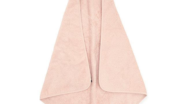 Cape de bain éponge- 75x75cm pale rose-