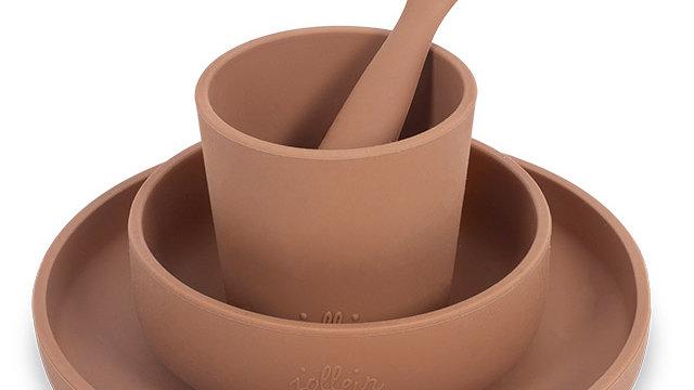 Service de vaisselle pour enfants 4 pièces - Caramel