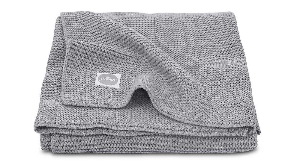 Couverture -75x100cm Basic knit stone gris-
