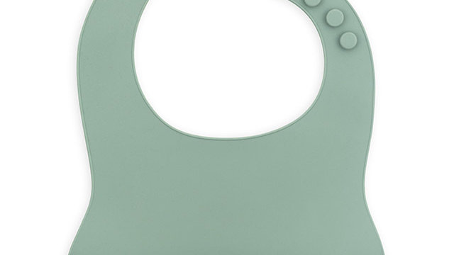 Bavoir siliconen -Ash vert-