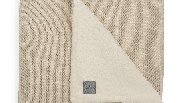 Couverture teddy -75x100cm Bliss knit nougat-