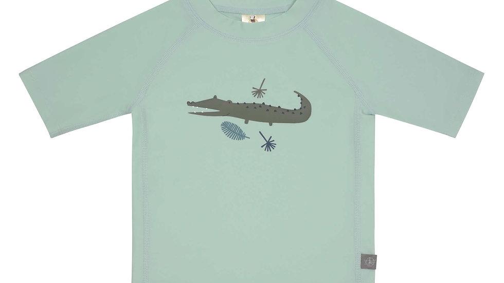 T-shirt Anti-UV Manches Courtes, Crocodile Menthe - taille 12 mois ( 74/80 cm )
