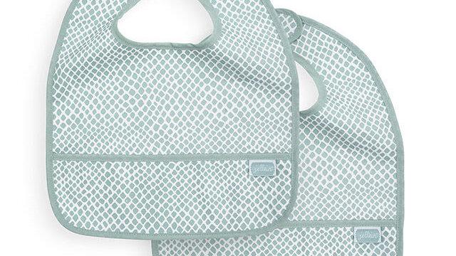 Bavoir waterproof Snake soft green (2pack)