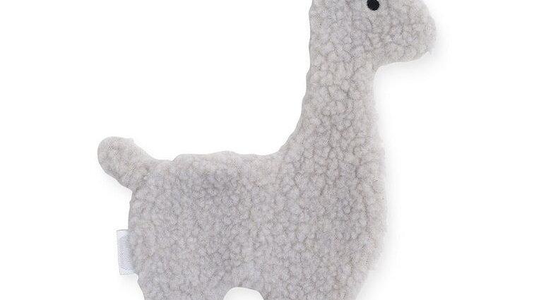 Attache tétine -Lama gris-