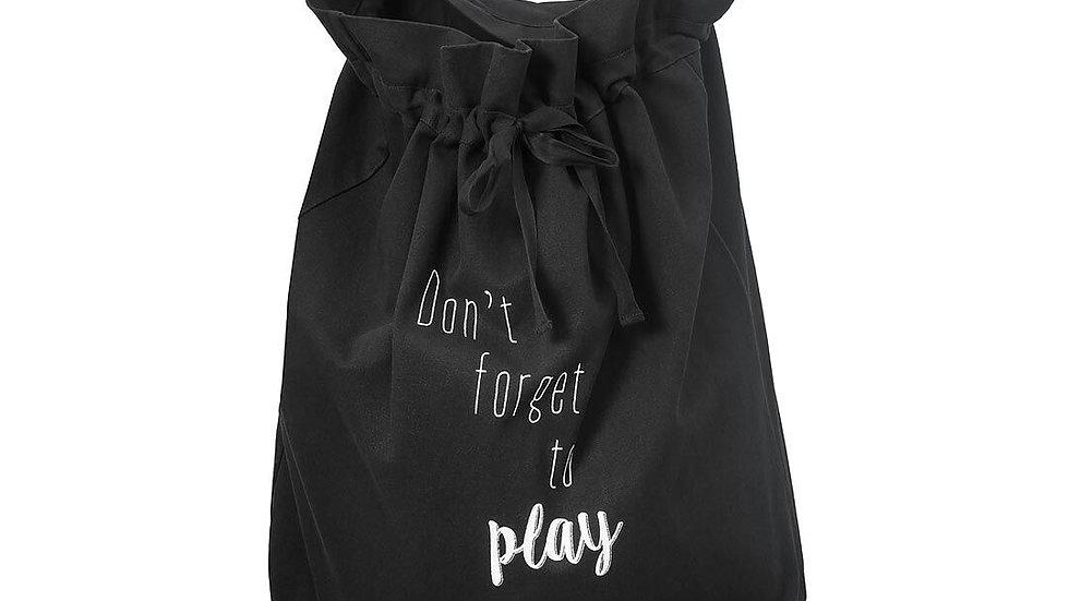 Sac de rangement Don't forget to play noir