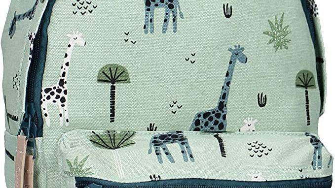 Kidzroom Sac à Dos pour Enfants - Girafes et Arbres - Vert Menthe