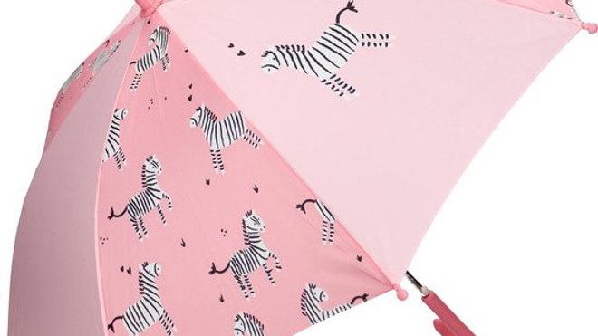 Parapluie Kidzroom zèbre  Rose