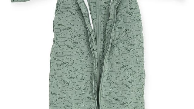Baby sac de couchage 4 saisons -70cm Whales ash vert-