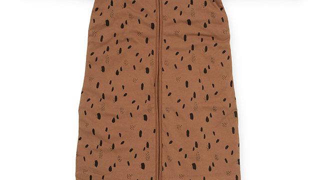 Baby Sac de couchage- 90cm Spot caramel- avec manches à fermeture à glissière
