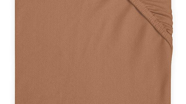 Drap-housse jersey 60x120cm caramel