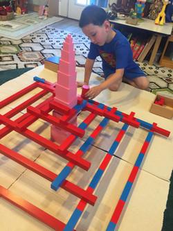 Josiah building castle 2