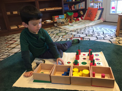 Colored Cylinders with Cards
