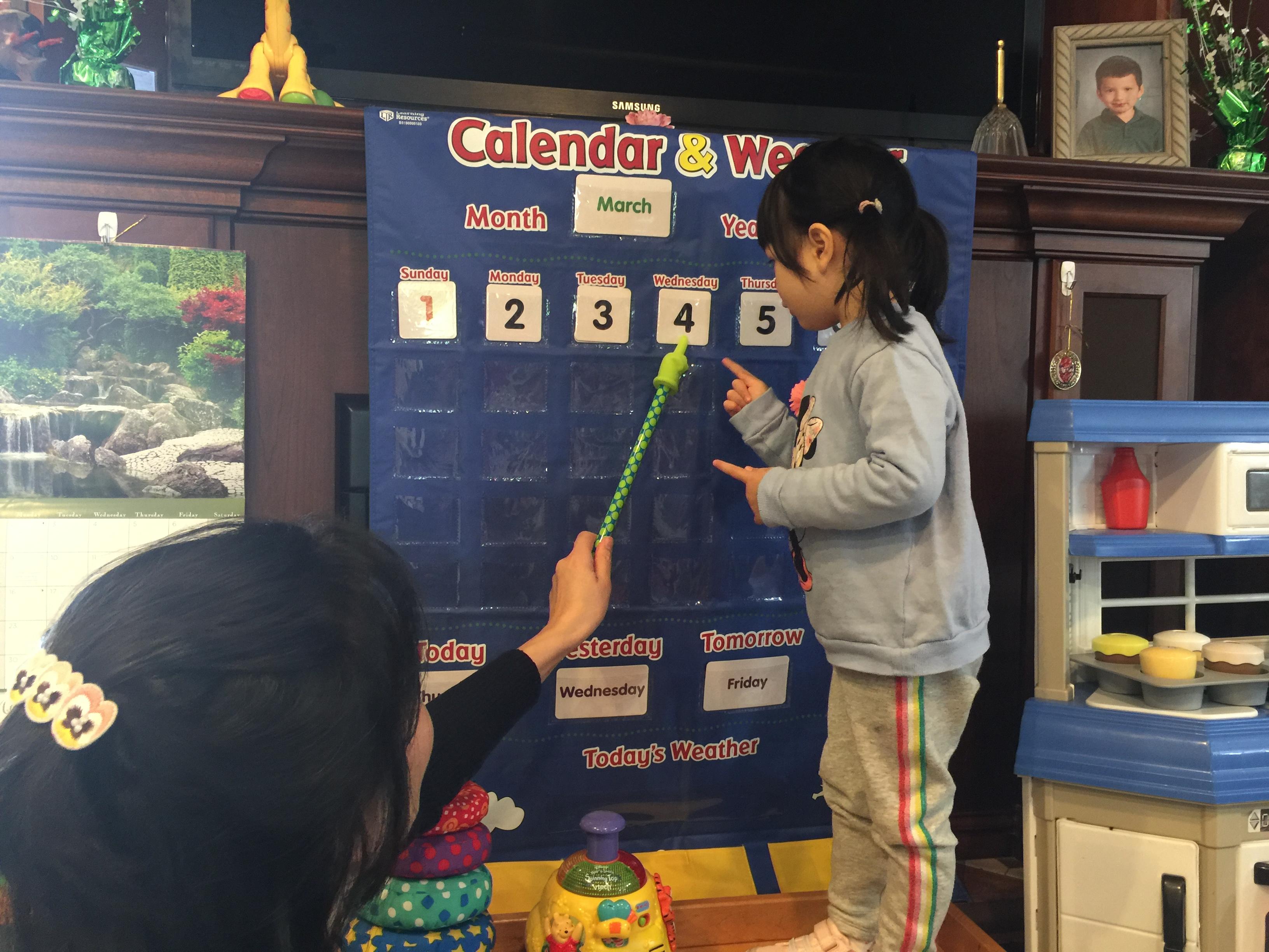 Calendar teaching