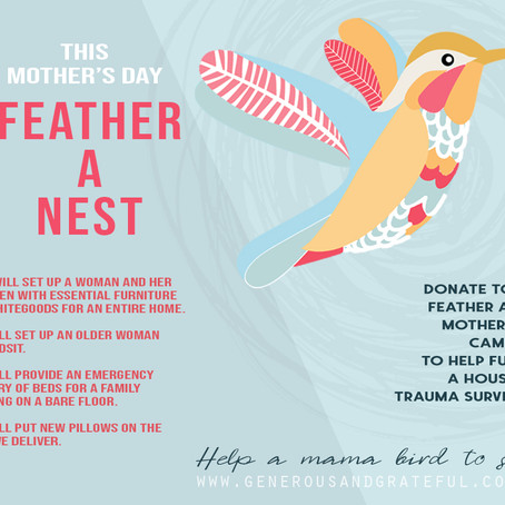 Help a mama bird soar this Mother's Day