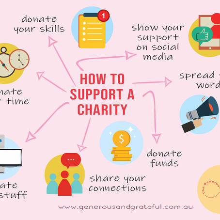 How to help a charity