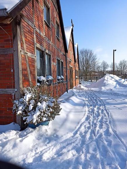 Schnee, Schnee und noch mehr Schnee.