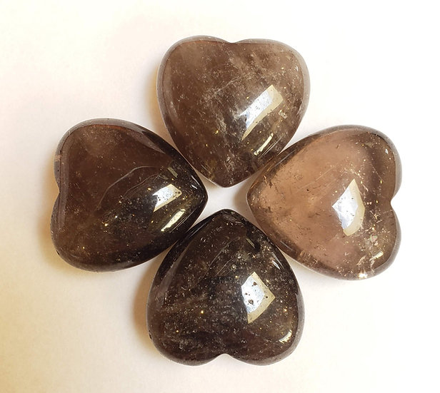 Small Smokey Quartz heart