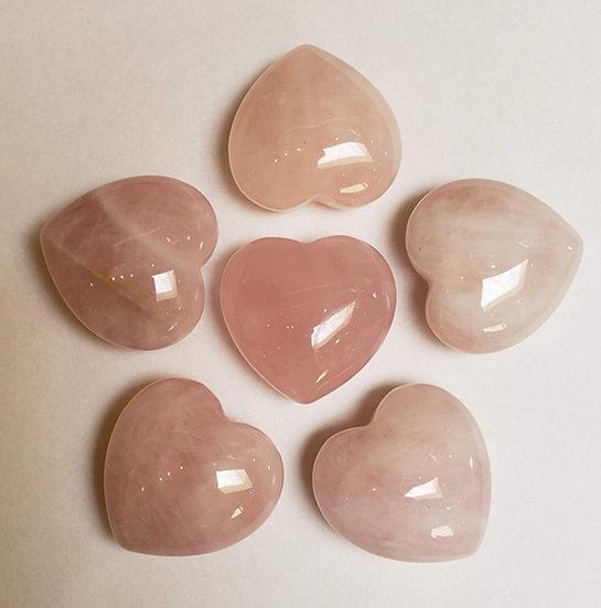 Medium Rose Quartz heart