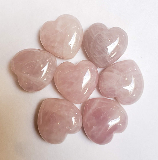 Small rose quartz heart