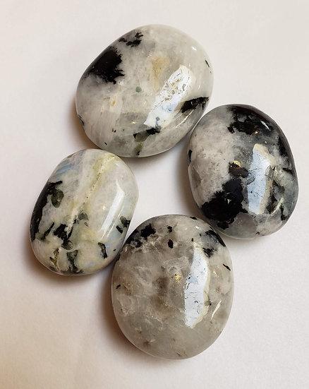 Rainbow Moonstone pillow/palm stone