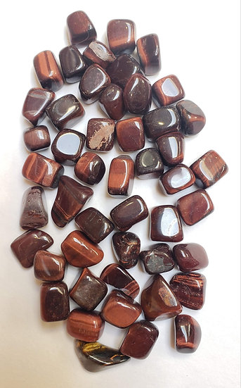 Red Tigers Eye Tumbled Small