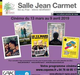 le nouveau programme cinéma de la salle J. Carmet est arrivé !!