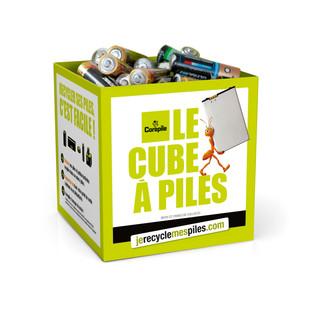 Philippe Joncour, Indelec, tente la collecte de piles usagées....