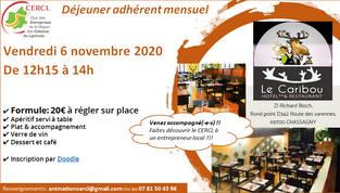 Déjeuner adhérent Novembre 2020