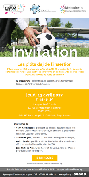 P'tit Dej' de l'insertion - 13 avril 2017