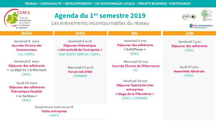 Agenda du CERCL - 1er semestre 2019