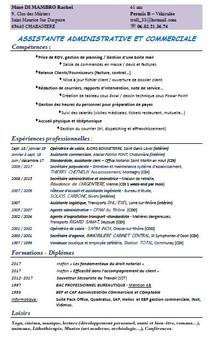 Candidature Assistante administrative et commerciale