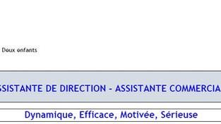 Candidature Assistante de direction / commerciale
